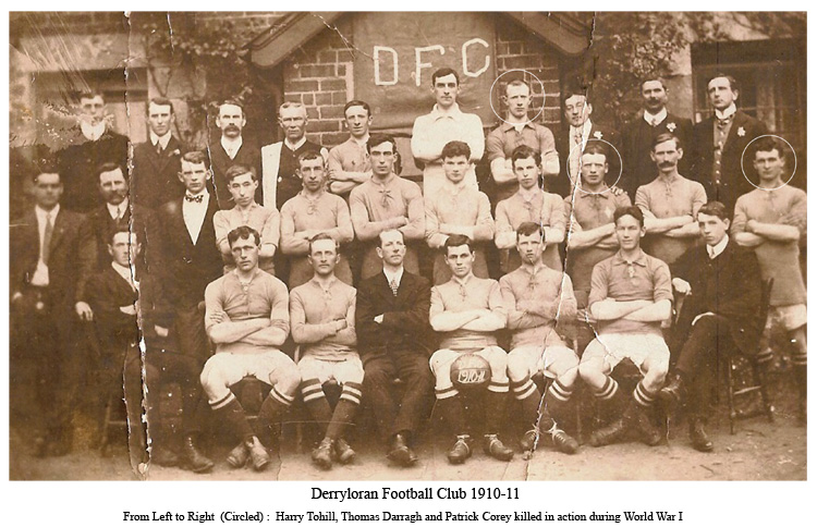 Derryloran Football Club, Cookstown 1910-1911