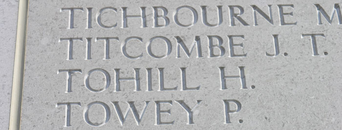 Henry Tohill inscription
